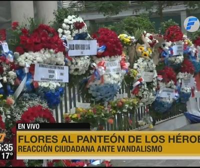 La reacción ante vandalismo en el Panteón de los Héroes