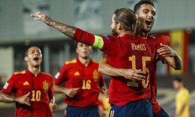 Nations League: España goleó a Ucrania y Alemania igualó con Suiza