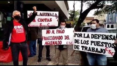 Sindicato rechaza pago fraccionado del aguinaldo