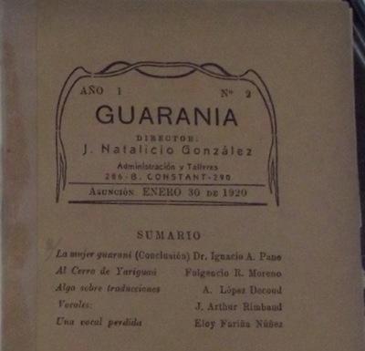 Discontinuum alien en Guarania et alia