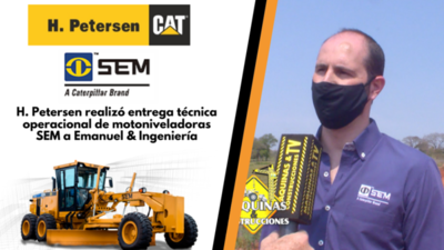 H. Petersen realizó entrega técnica operacional de motoniveladoras SEM a Emanuel & Ingeniería