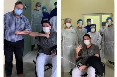 Crónica / (VIDEO) ¡De alta! El doctor Pallarolas venció al coronavirus
