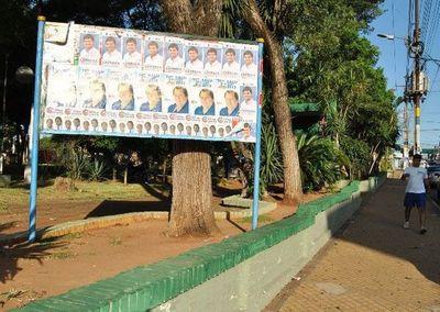 Proyectan llenar de propaganda electoral microcentro de Luque