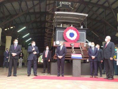 """Inauguran restauración del """"arcopuente"""" del ferrocarril, que costó G. 798 millones"""