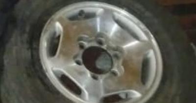 Aparentemente robaron ruedas