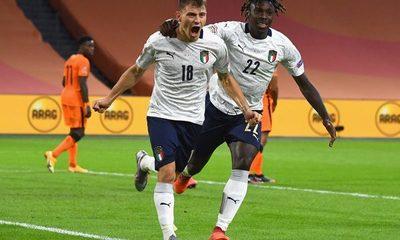 Nations League: Italia vence por la mínima diferencia a Holanda
