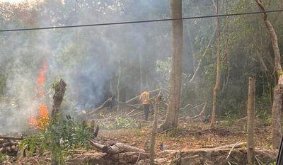 Denuncian quemas intencionales y tala en el área protegida del lago