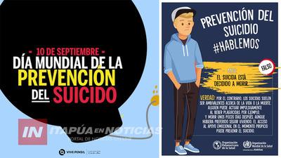 SEPTIEMBRE AMARILLO: BUSCAN SALVAR VIDAS MEDIANTE TRABAJO DE PREVENCIÓN EN ITAPÚA.