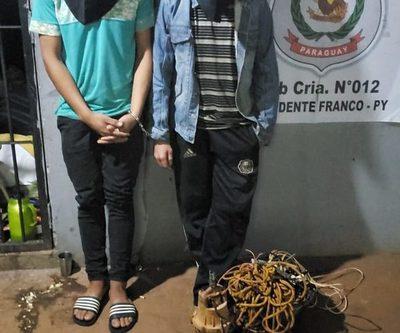 Capturan a dos rateros y recuperan objeto robado en Franco