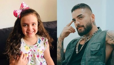 La niña que se robó el corazón de Maluma