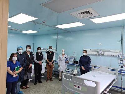 Aumentan capacidad en área de reanimación del Hospital Integrado en Ciudad del Este