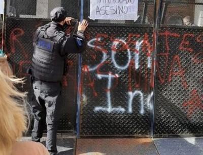 Se manifestaron frente a la embajada paraguaya en Argentina