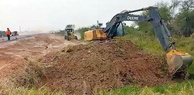 Consorcio alega que esperan luz verde del MOPC para iniciar obras en la ruta Pozo Colorado-Concepción