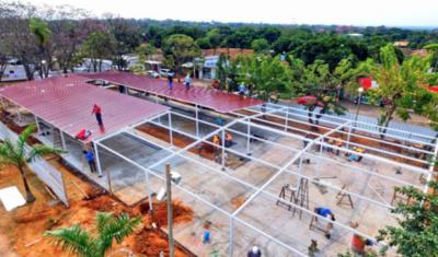 HOY / Obras en el pabellón de Acosta Ñu están muy avanzadas