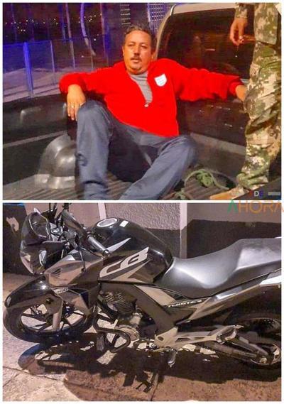 Hombre intento cruzar el Puente de la Amistad con moto robada