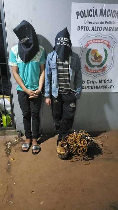 Atrapan a ladrones y recuperan una bomba de agua robada