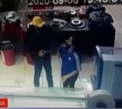 Delincuentes roban G. 60 millones de un Autoservicio