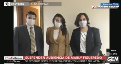 Suspenden audiencia de imposición de medidas a Marly Figueredo