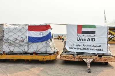 Importante cargamento de insumos médicos donados por Emiratos Árabes Unidos arribó al Paraguay