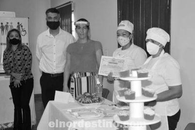"""Cierre del """"Curso para la Elaboración de Bocaditos, Dulces y Salados"""", organizado por la Gobernación de Amambay"""