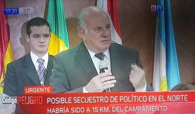 Exvicepresidente desapareció a pocos kilómetros del campamento del EPP