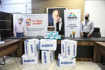 Itaipu entregó 18.250 mascarillas quirúrgicas a la Gobernación de Alto Paraná