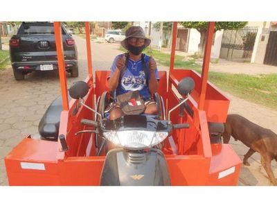 Triciclo motorizado para  un trabajador