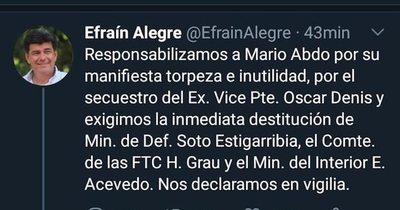 La Nación / Repudian oportunismo de Alegre