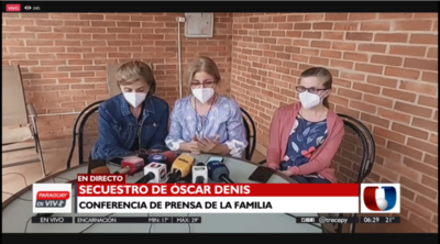 """Hijas del exvicepresidente Óscar Denis: """"Estamos abiertas a cualquier comunicación"""""""