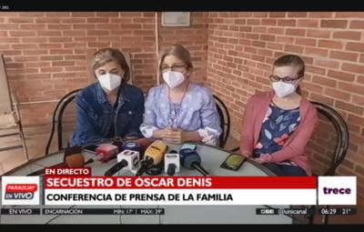Hijas del exvicepresidente Óscar Denis piden a captores que se comuniquen