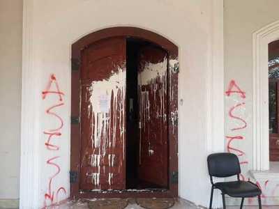 (EN FOTOS) Atacan el Consulado del Paraguay en Resistencia, Argentina