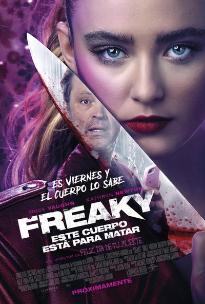 "Universal presentó tráiler de comedia de terror: Freaky ""este cuerpo está para matar"""