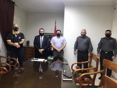 Municipalidad de CDE y Patrulla Caminera coordinan trabajo conjunto