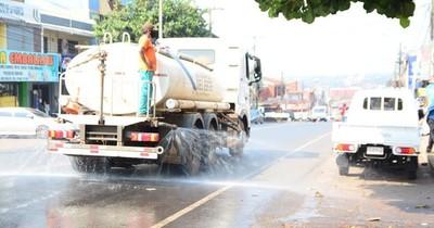 La Nación / Intensifican trabajos de desinfección de espacios públicos en CDE