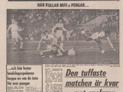 Imágenes inéditas de Malmö vs. Olimpia en 1979