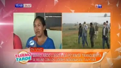 Abdo Benítez promete a madre recuperar a nativo secuestrado