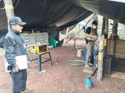 Senad incauta toneladas de marihuana tras tiroteo con narcos en Amambay