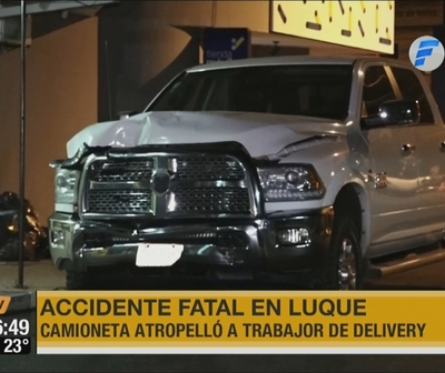 Delivery muere atropellado en Luque