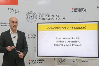 Salud Pública recomienda establecer cuarentenas sociales en Caaguazú y Concepción
