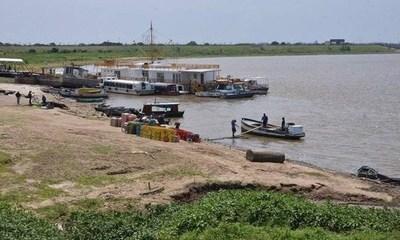 ANNP declara alerta hidrológica en aguas del Río Paraguay debido a la bajante del río