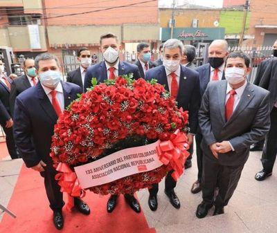 ANR celebra 133 años: Marito y Cartes participan del acto