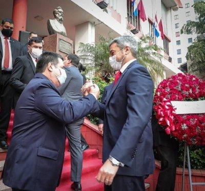 Marito y Cartes se reunieron en el local de la ANR para festejar su 133° aniversario