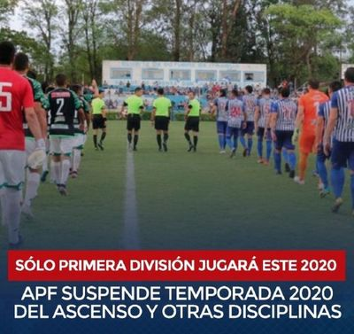La División Intermedia no se jugará este 2020