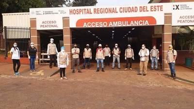 Realizan minga ambiental en hospitales cabeceras de Alto Paraná