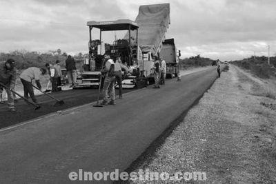 La rehabilitación y mantenimiento del tramo de la ruta Pozo Colorado-Concepción se encuentra en su etapa final