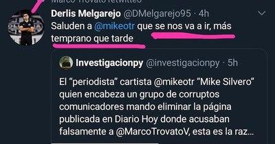 La Nación / Grupo Nación denuncia amenaza a Mike Silvero