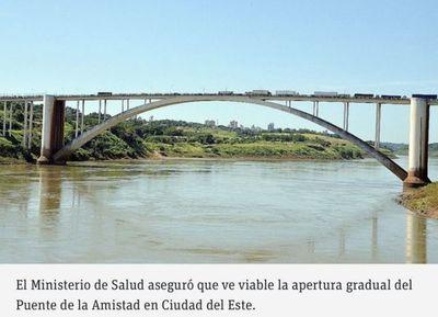 Apertura de puente es viable, dijo ministro