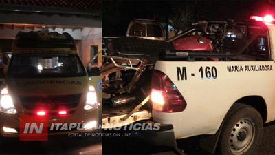 MOTOCICLISTA HOSPITALIZADO TRAS CAIDA EN CARRERA CLANDESTINA