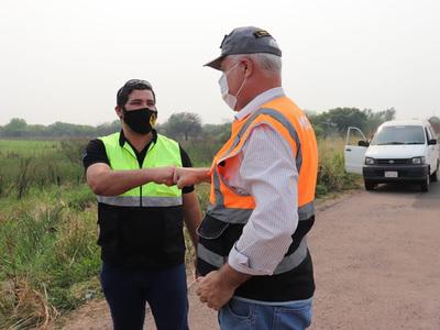 Wiens supervisa trabajos en el tramo Pozo Colorado – Concepción