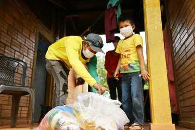 Familias indígenas de 23 comunidades de Alto Paraná reciben kits de alimentos para sobrellevar la pandemia